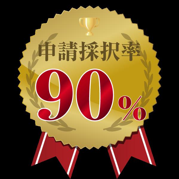 申請採択率90%
